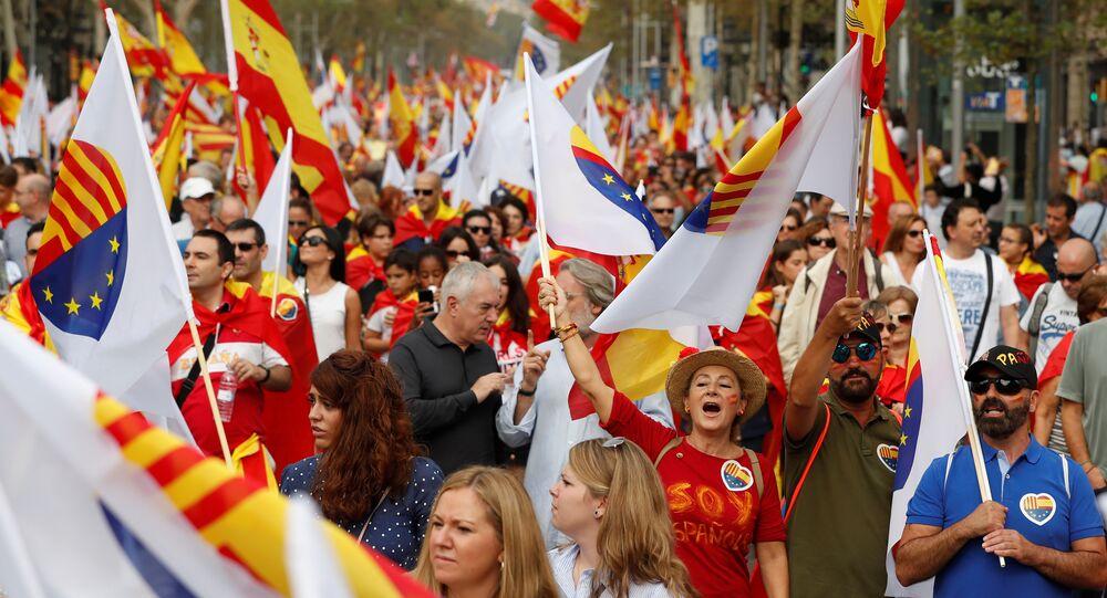 Barcelona'da İspanya Ulusal Günü kutlamaları