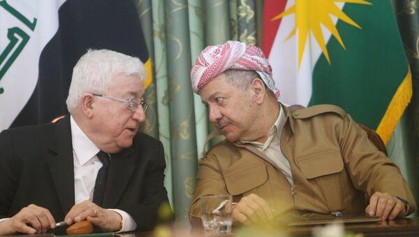 IKBY Başkanı Mesud Barzani ve Irak Cumhurbaşkanı Fuad Masum - Sputnik Türkiye