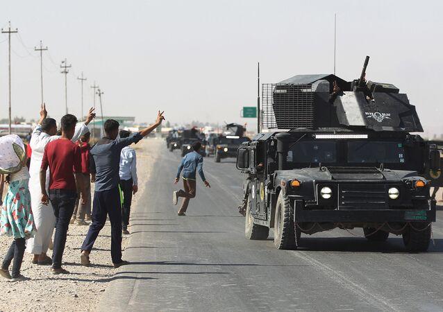 Irak Savunma Bakanlığı'na bağlı Savaş Medya Ağı'ndan yapılan yazılı açıklamada da Federal polis güçleri ve çevik kuvvet, Kerkük Hürriyet Havalimanı'nda kontrolü sağladı denildi.