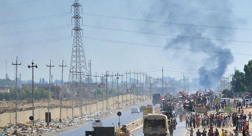 Kerkük'te ilerleyen Irak güçleri
