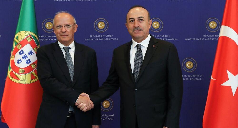 Dışişleri Bakanı Mevlüt Çavuşoğlu - Portekiz Dışişleri Bakanı Augusto Santos Silva