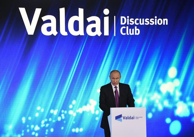 Rusya Devlet Başkanı Vladimir Putin- Valday Tartışma Kulübü