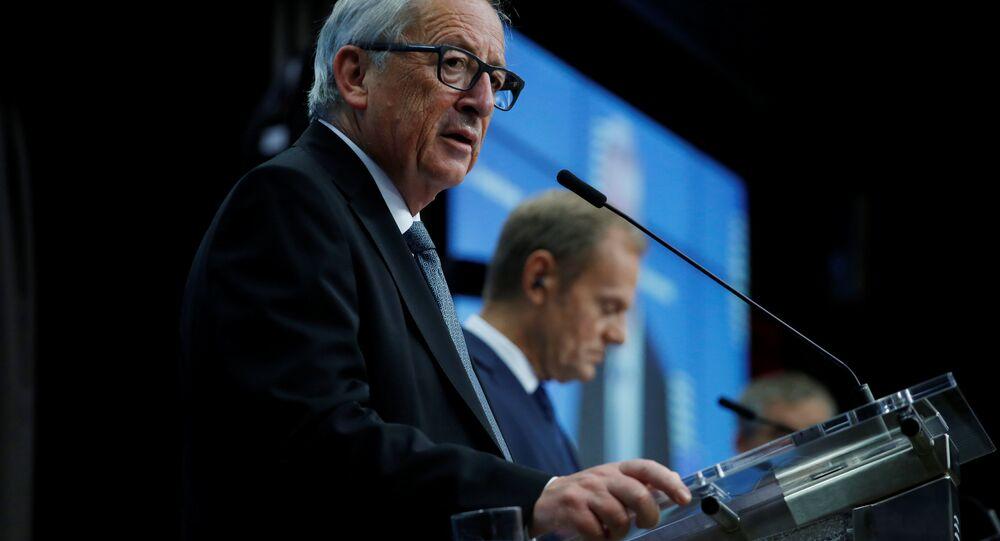Avrupa Birliği (AB) Komisyonu Başkanı Jean-Claude Juncker, AB Konseyi Başkanı Donald Tusk