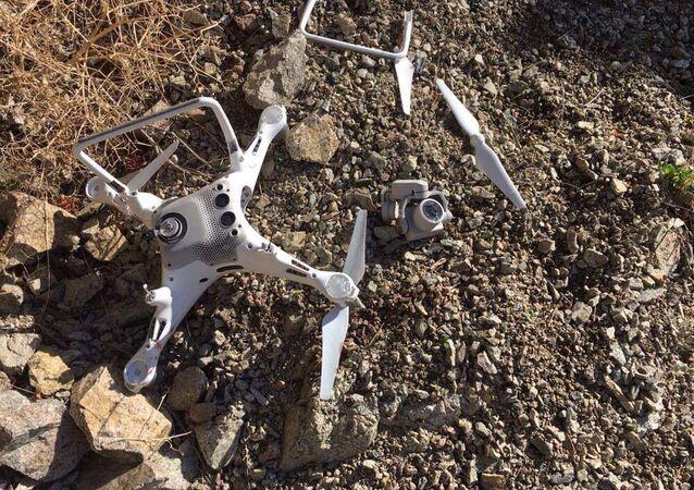 Artvin'de kartalın düşürdüğü drone