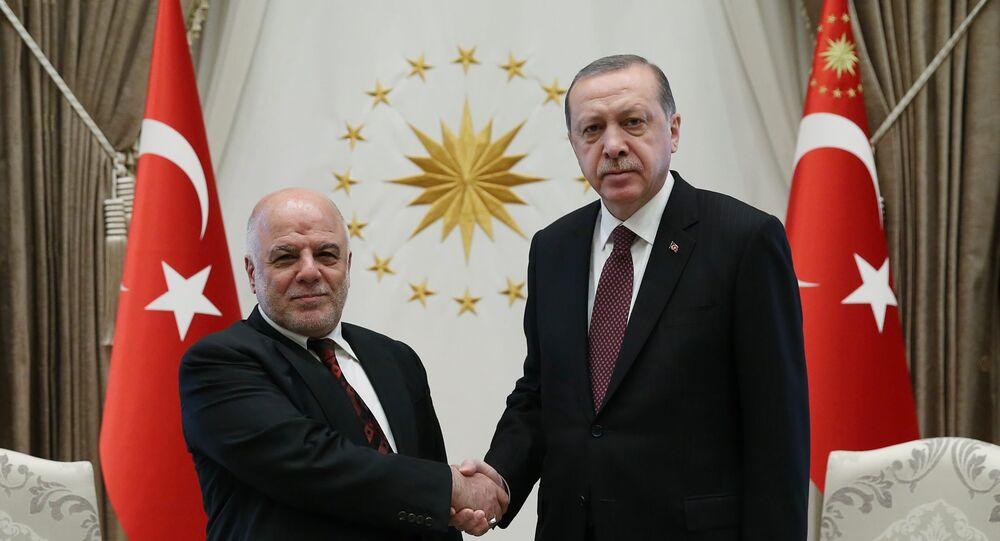 Irak Başbakanı Haydar el İbadi- Cumhurbaşkanı Recep Tayyip Erdoğan
