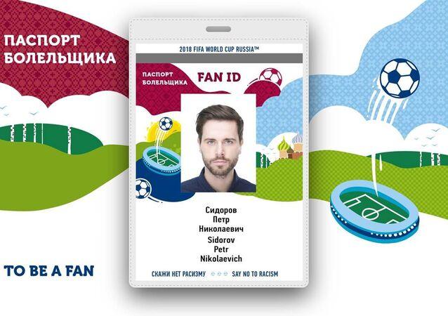 2018 FIFA Dünya Kupası Rusya Taraftar kimliği.