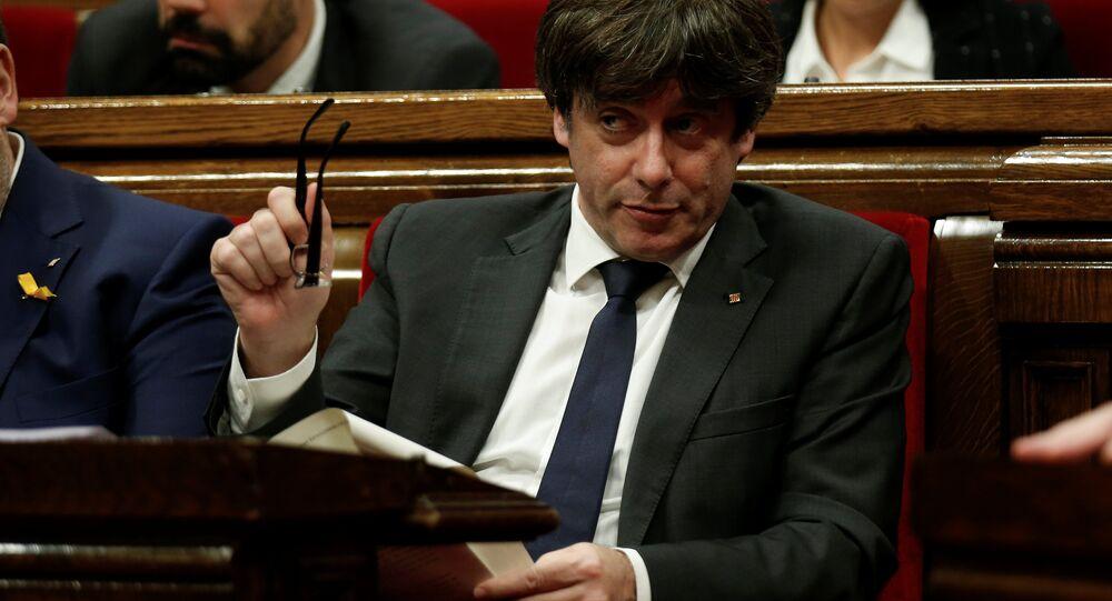 Katalonya Özerk Yönetimi Başkanı Carles Puigdemont