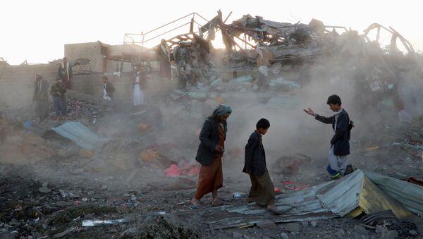 Suudi Arabistan'dan Yemen'e hava saldırısı - Sputnik Türkiye