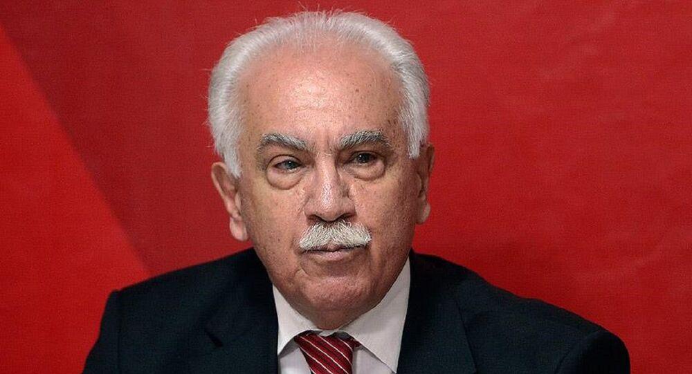 Perinçek: Üçüncü bir gemi yok, ya Erdoğan ile birlikte Türkiye gemisindesin ya da Amerika gemisinde - Sputnik Türkiye