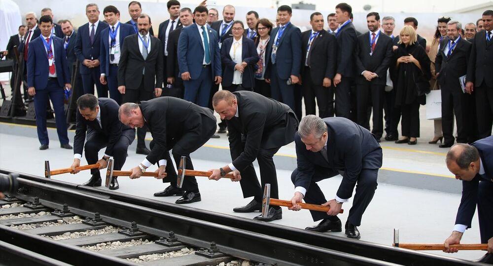 Bakü-Tiflis-Kars Demiryolu Hattı açılış töreni