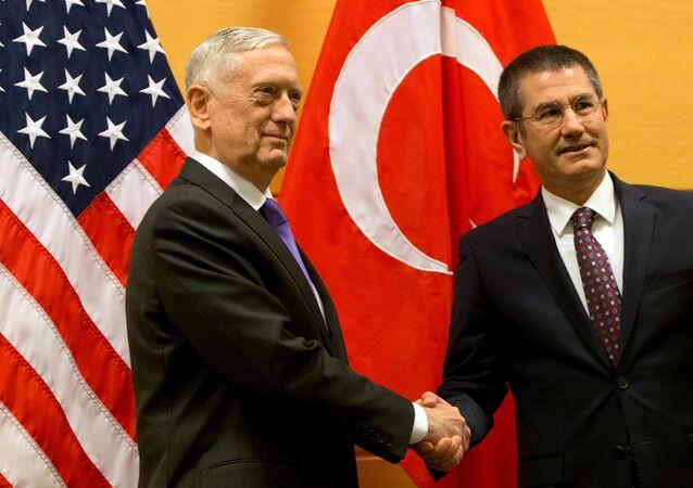 Milli Savunma Bakanı Nurettin Canikli-ABD Savunma Bakanı James Mattis