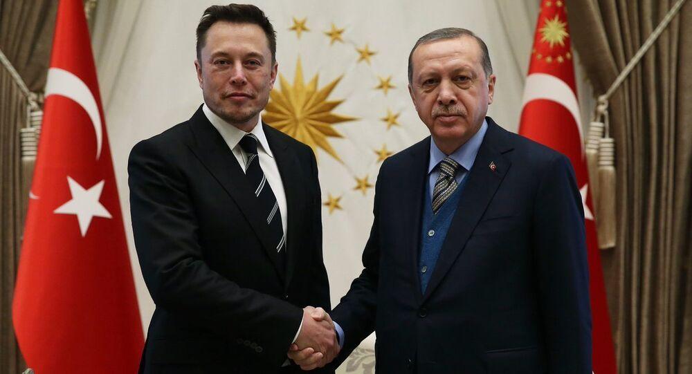 Cumhurbaşkanı Recep Tayyip Erdoğan ve Elon Musk