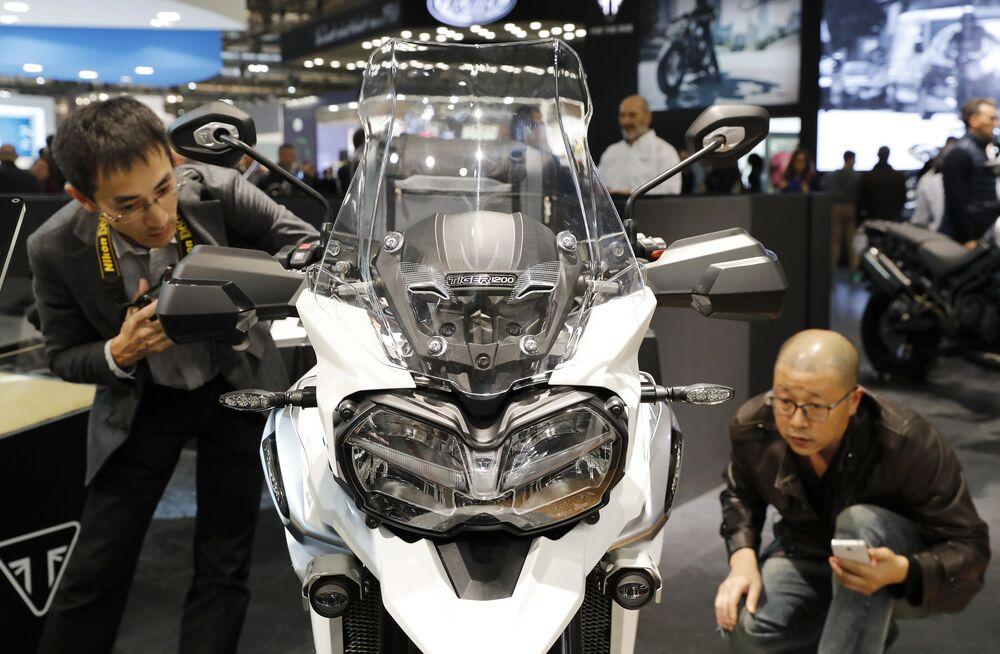 1902'de kurulan İngiltere'nin en eski motosiklet üreticisi Triumph'un modellerinden biri.