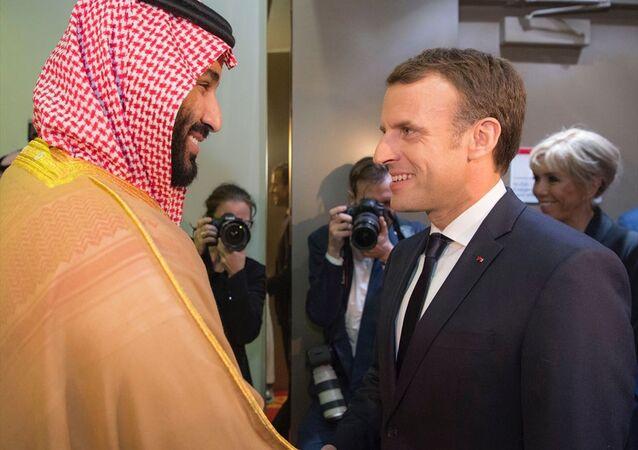 Fransa Cumhurbaşkanı Emmanuel Macron- Suudi Arabistan Veliaht Prensi ve Savunma Bakanı Muhammed bin Selman