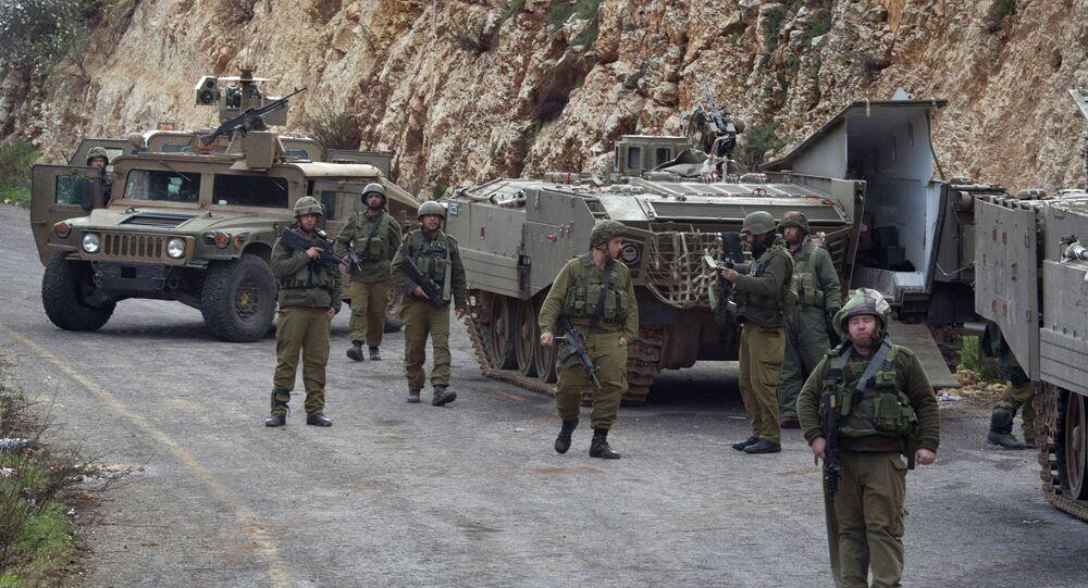 İsrail-Lübnan sınırında İsrail askerleri