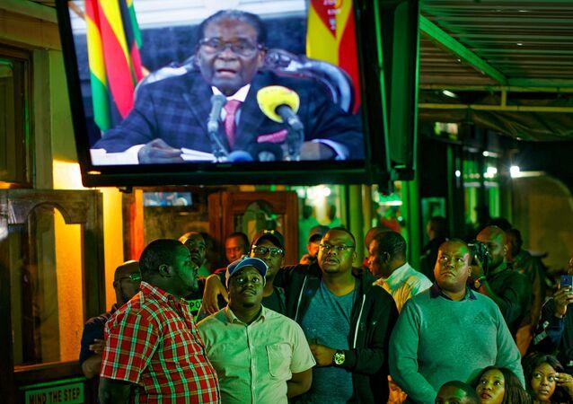 Zimbabve Devlet Başkanı Robert Mugabe ulusa seslendi