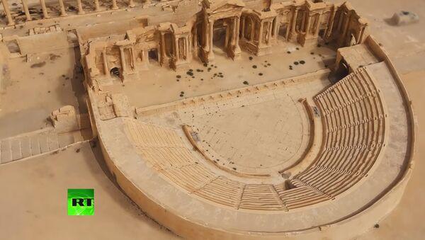 Rusya, Şam'a Palmira'nın 3D modelini verdi (VIDEO) - Sputnik Türkiye