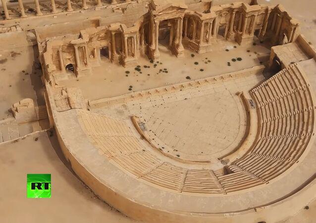 Rusya, Şam'a Palmira'nın 3D modelini verdi (VIDEO)