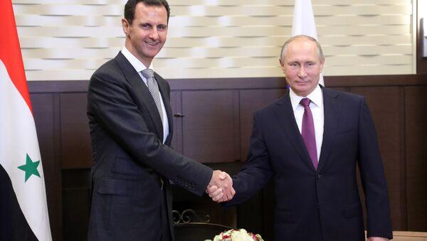 Rusya Devlet Başkanı Vladimir Putin - Suriyeli mevkidaşı Beşar Esad - Sputnik Türkiye