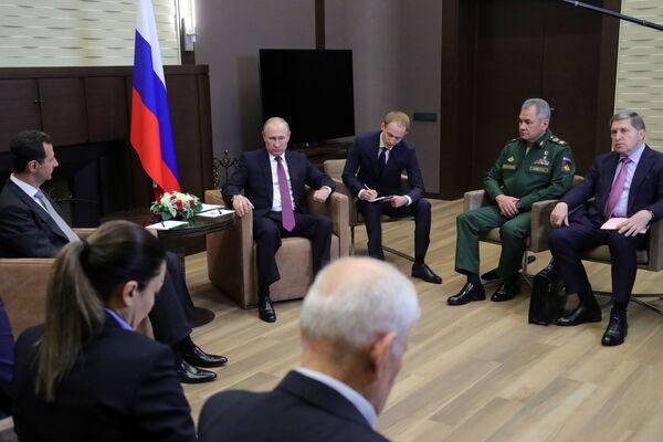 Putin-Esad görüşmesi - Sputnik Türkiye