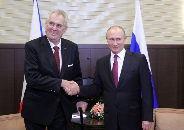 Rusya Devlet Başkanı Vladimir Putin- Çekya Devlet Başkanı Milos Zeman