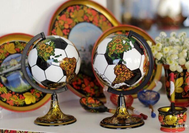 2018 FIFA Dünya kupası, futbol topu şeklinde yerküre