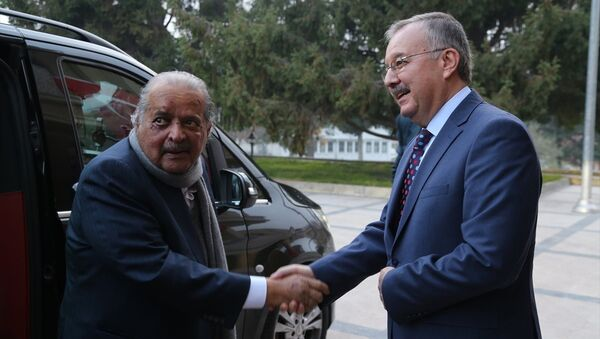 Katarlı iş adamı Şeyh Faysal bin Kasım Al Sani ve Edirne Valisi Günay Özdemir - Sputnik Türkiye