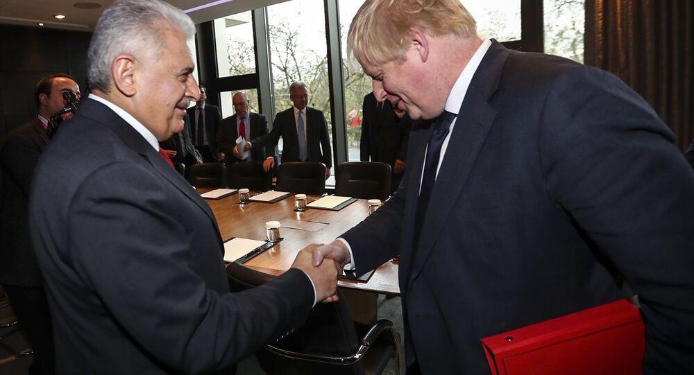 Başbakan Binali Yıldırım, İngiltere Dışişleri Bakanı Boris Johnson'u kabul etti