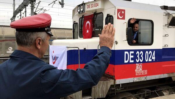 Bakü-Tiflis-Kars (BTK) Demiryolu Hattı - Sputnik Türkiye