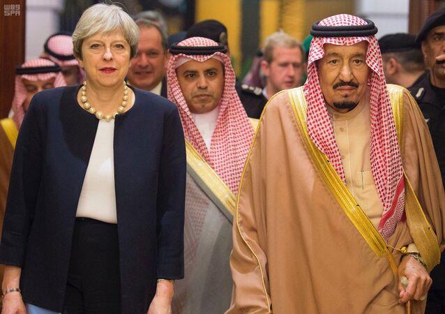 İngileter Başbakanı Theresa May- Suudi Kralı Selman