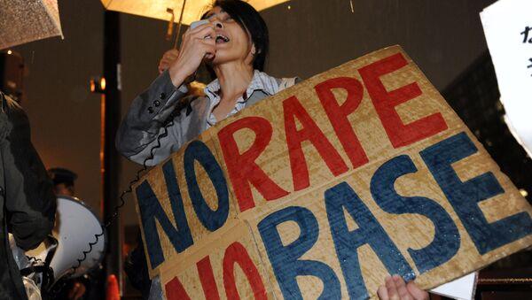 Okinawa'da tecavüz ve cinayetin ardından yapılan ABD karşıtı eylem - Sputnik Türkiye