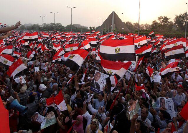 Mısır Eski Başbakanı Ahmet Şefik'in seçim mitingi