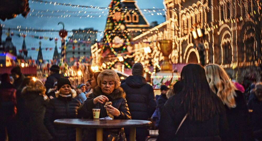 Moskova'da yılbaşı coşkusu
