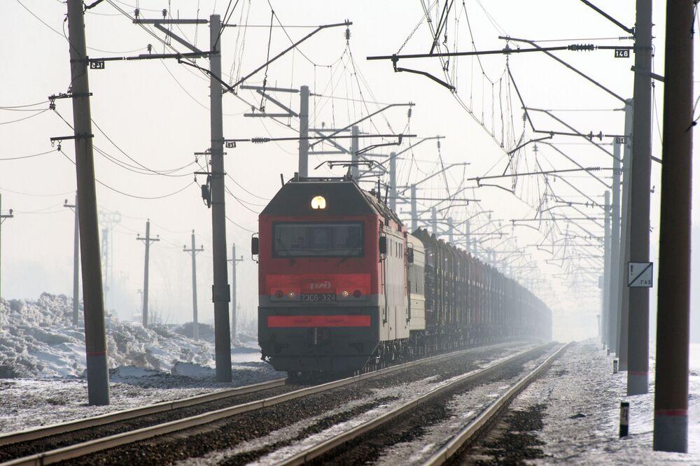 Trans-Sibirya demiryolu arşiv fotoğraflarında