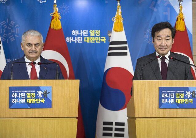 Başbakan Binali Yıldırım ve  Güney Kore Başbakanı Lee Nak-Yeon