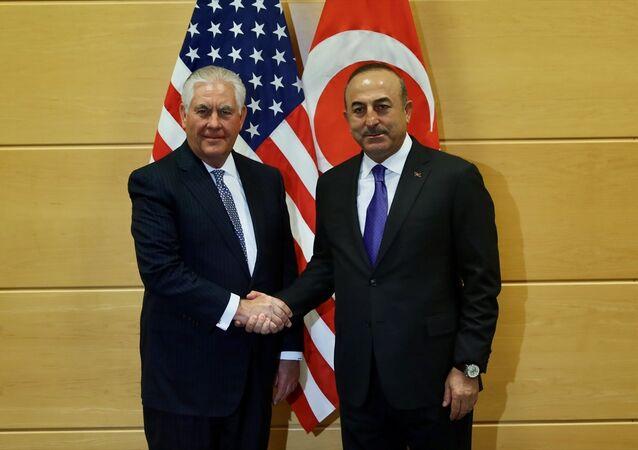 Dışişleri Bakanı Mevlüt Çavuşoğlu ve ABD'li mevkidaşı Rex Tillerson (Arşiv)