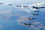 ABD'ye ait B1-B ağır bombardıman uçağı Kore semalarında