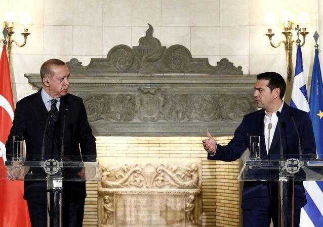Türkiye Cumhurbaşkanı Recep Tayyip Erdoğan- Yunanistan Başbakanı Aleksis Çipras