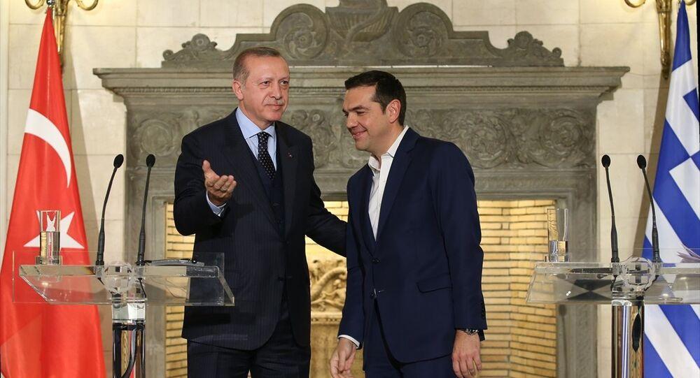 Türkiye Cumhurbaşkanı Recep Tayyip Erdoğan ve Yunanistan Başbakanı Aleksis Çipras
