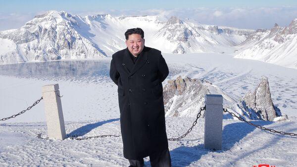 Kuzey Kore lideri Kim Jong-un, Baekdu Dağı'na tırmandı - Sputnik Türkiye
