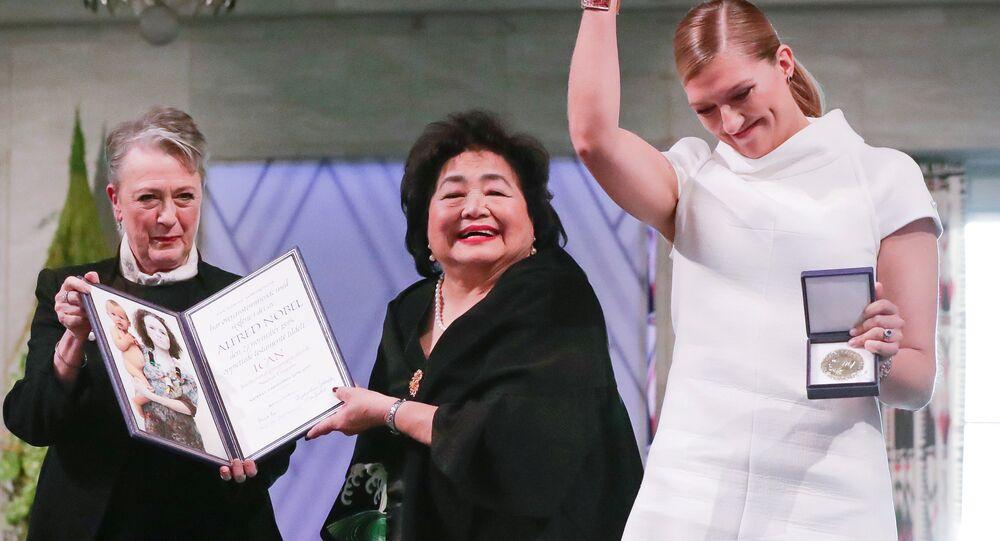 2017 Nobel Barış Ödülü'nü kazanan Nükleer Silahların Tamamen Ortadan Kaldırılması için Uluslararası Kampanya (ICAN)