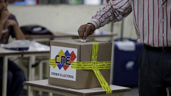 Venezüella'da belediye başkanlığı seçimi - Sputnik Türkiye