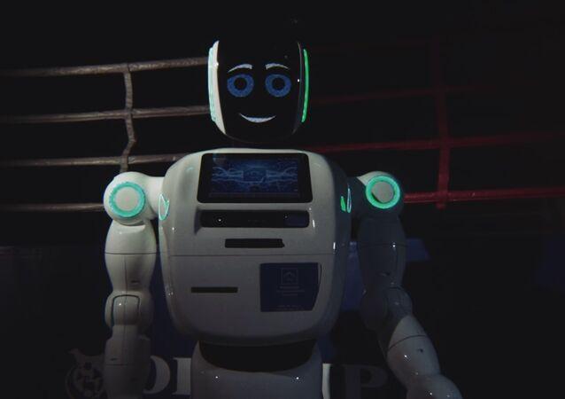 Rusya'da robotlardan rap kapışması