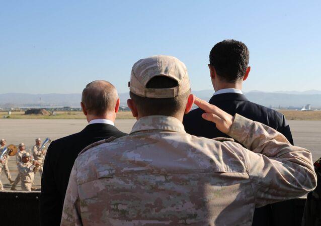 Rusya Devlet Başkanı Vladimir Putin- Suriye Devlet Başkanı Beşar Esad