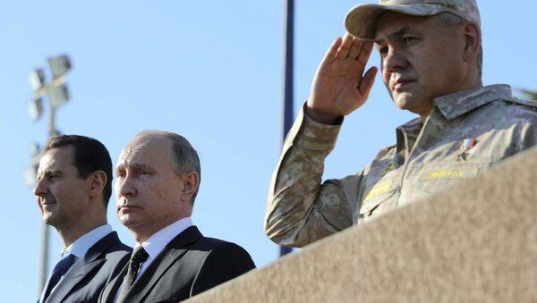 Rusya Devlet Başkanı Vladimir Putin- Suriye Devlet Başkanı Beşar Esad - Sputnik Türkiye