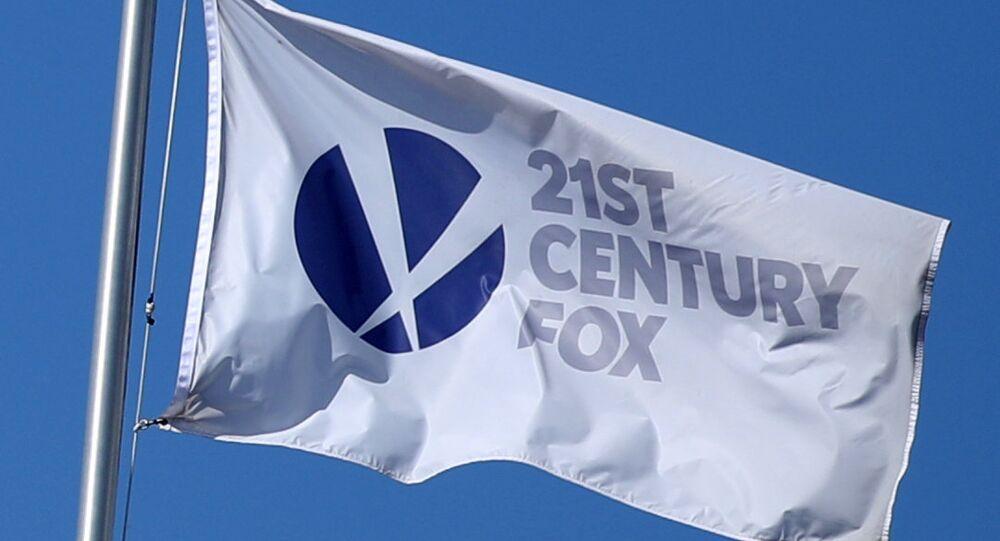 The Twenty-First Century Fox Studios bayrağı Los Angeles