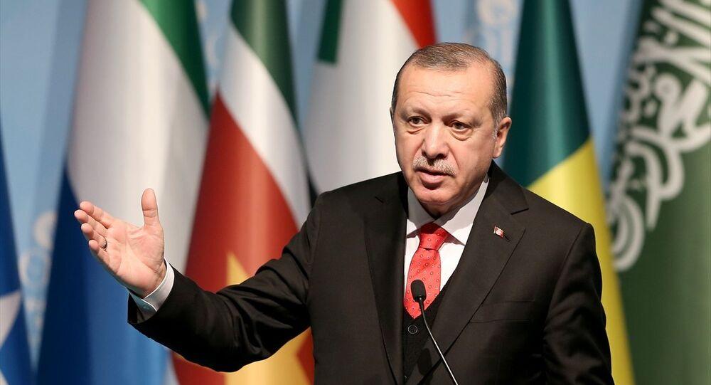 Cumhurbaşkanı Recep Tayyip Erdoğan, İslam İşbirliği Teşkilatı (İİT) Zirvesi'nin ardından basın toplantısı düzenledi