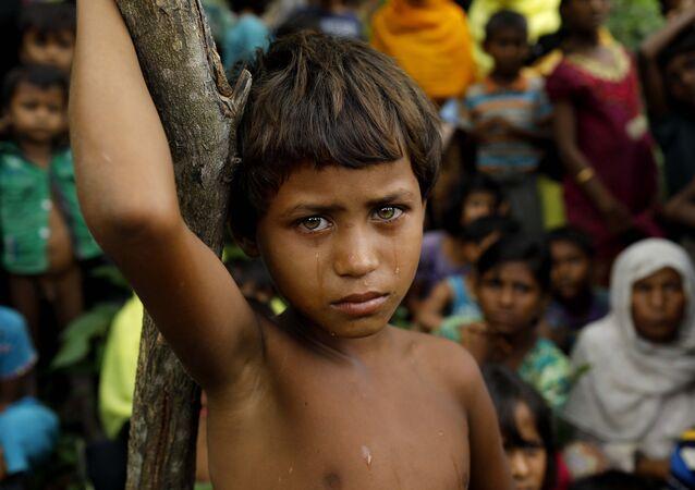 Arakanlı Müslüman çocuk