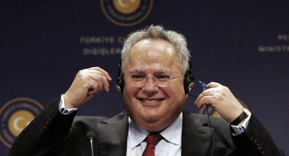 Yunanistan Dışişleri Bakanı Nikos Kocyas