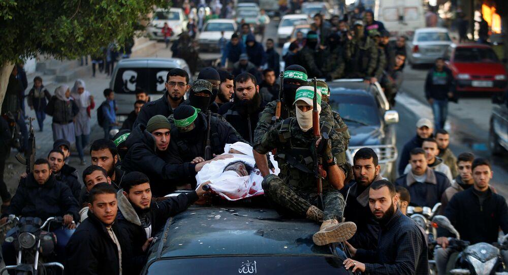 Gazze İsrail hava saldırısında öldürülen Hamas militanı